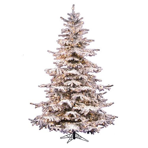 innovative design 96510 5fbbc Vickerman 10-ft. Pre-Lit Flocked Sierra Artificial Christmas Tree