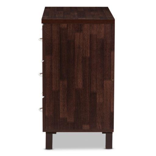 Baxton Studio Maison 3-Drawer Dresser