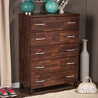 Baxton Studio Maison 5-Drawer Dresser