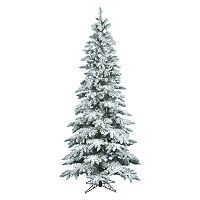 Vickerman 7.5-ft. Flocked Slim Utica Fir Artificial Christmas Tree