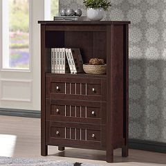 Baxton Studio Cyclo 3-Drawer Sideboard Storage Cabinet  by
