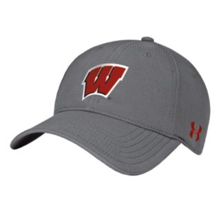 Adult Under Armour Wisconsin Badgers Renegade Stretch-Fit Cap