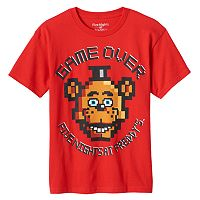 Boys 8-20 Five Nights At Freddy's Game Over Tee