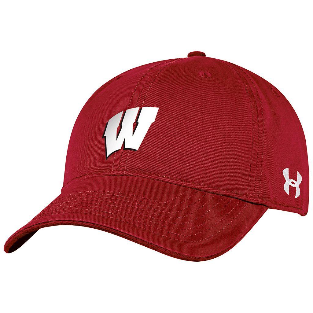 Women's Under Armour Wisconsin Badgers Relaxed Adjustable Cap