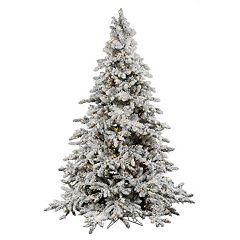 Vickerman 6.5-ft. Pre-Lit Flocked Utica Artificial Christmas Tree