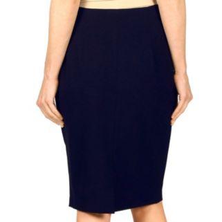 Women's Larry Levine Solid Pencil Skirt