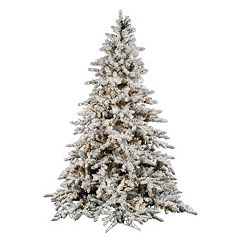 Vickerman 7.5-ft. Clear Pre-Lit Flocked Utica Artificial Christmas Tree