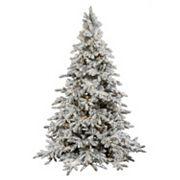Vickerman 7.5-ft. Warm White Pre-Lit Flocked Utica Artificial Christmas Tree