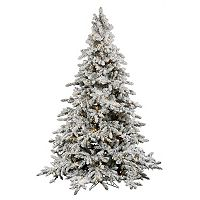 Vickerman 7.5-ft. Warm White Pre-Lit Flocked Utica Artificial Christmas Tree
