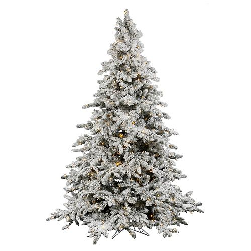 hot sales 3f0cf 43ccd Vickerman 7.5-ft. Warm White Pre-Lit Flocked Utica Artificial ...
