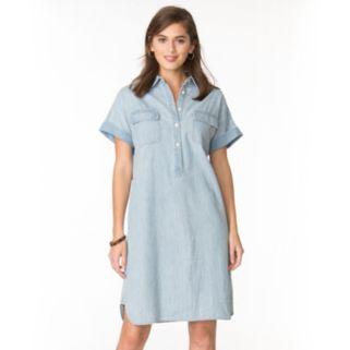 Petite Chaps Jean Shirtdress