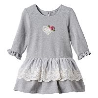 Toddler Girl Marmaletta Classics Lace Detailed Knit Dress