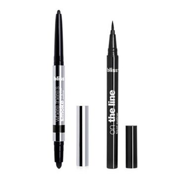 bliss Where There's Smoke Longwear Eyeliner & On the Line Liquid Eyeliner Duo