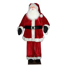 Vickerman 6-ft. Red Velvet Santa Christmas Decor