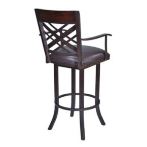 Armen Living Tahiti Swivel Counter Stool