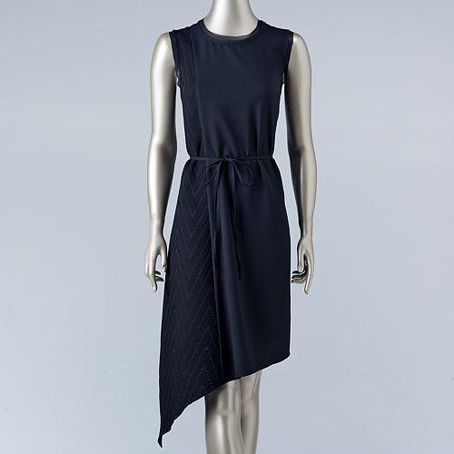Women's Simply Vera Vera Wang Asymmetrical Chevron Shift Dress
