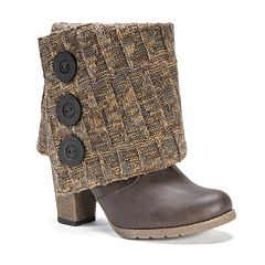 MUK LUKS Chris Women's Sweater-Cuff Ankle Boots