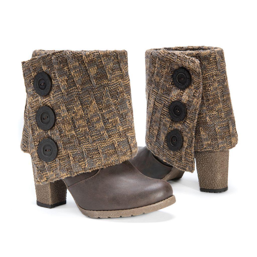 MUK LUKS Chris Women's Sweater-Cuff Ankle Boots
