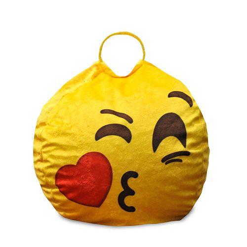 Incredible Kiss Face Emoji Mini Bean Bag Chair Forskolin Free Trial Chair Design Images Forskolin Free Trialorg