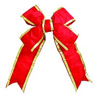 Vickerman 18 in Red & Gold Finish Decorative Bow