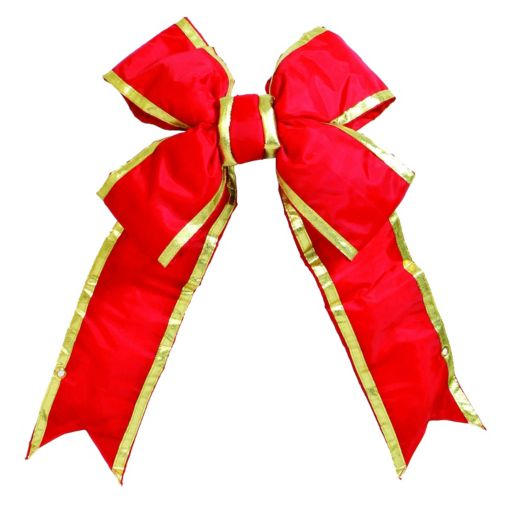 Vickerman 36-in. Red & Gold Finish Decorative Christmas Bow