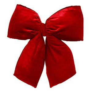 Vickerman 24-in. Red Velvet Structured Decorative Bow