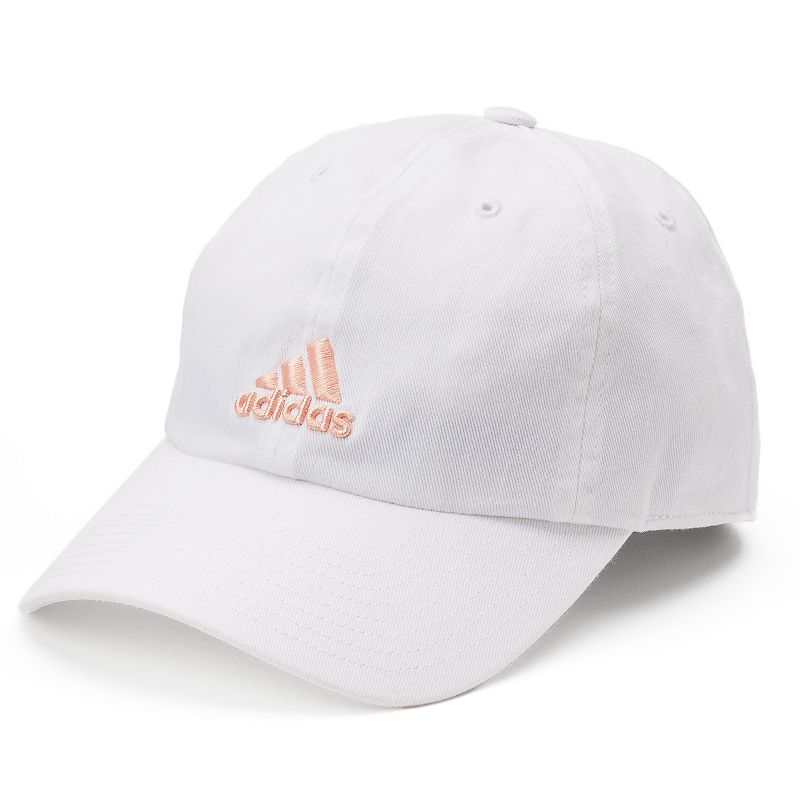 Women's Adidas Saturday Cap, White Designed for the active woman, this Adidas cap keeps you cool and comfortable when the temperature heats up. Back slider for adjusting to the perfect fit Climalite moisture-wicking sweatband Relaxed traditional silhouette Logo accent Fabric & Care Cotton Hand wash Imported Size: One Size. Color: White. Gender: Female. Age Group: Adult.