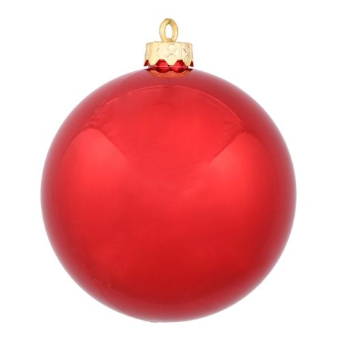 Vickerman 10-in. Red Shiny Ball Christmas Ornament