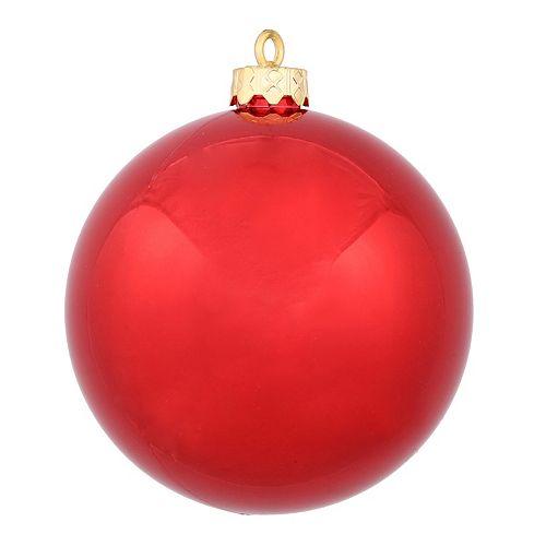 Vickerman 10-in. Red Shiny Ball Christmas Ornament