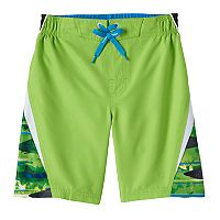 Boys 4-7 ZeroXposur Striped Abstract Swim Trunks