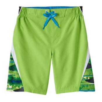 Boys 4-7 ZeroXposur Striped Abstract Swim Trunks