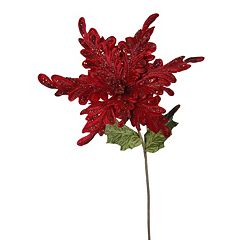 Vickerman Poinsettia Decorative Christmas Pick 3-piece Set