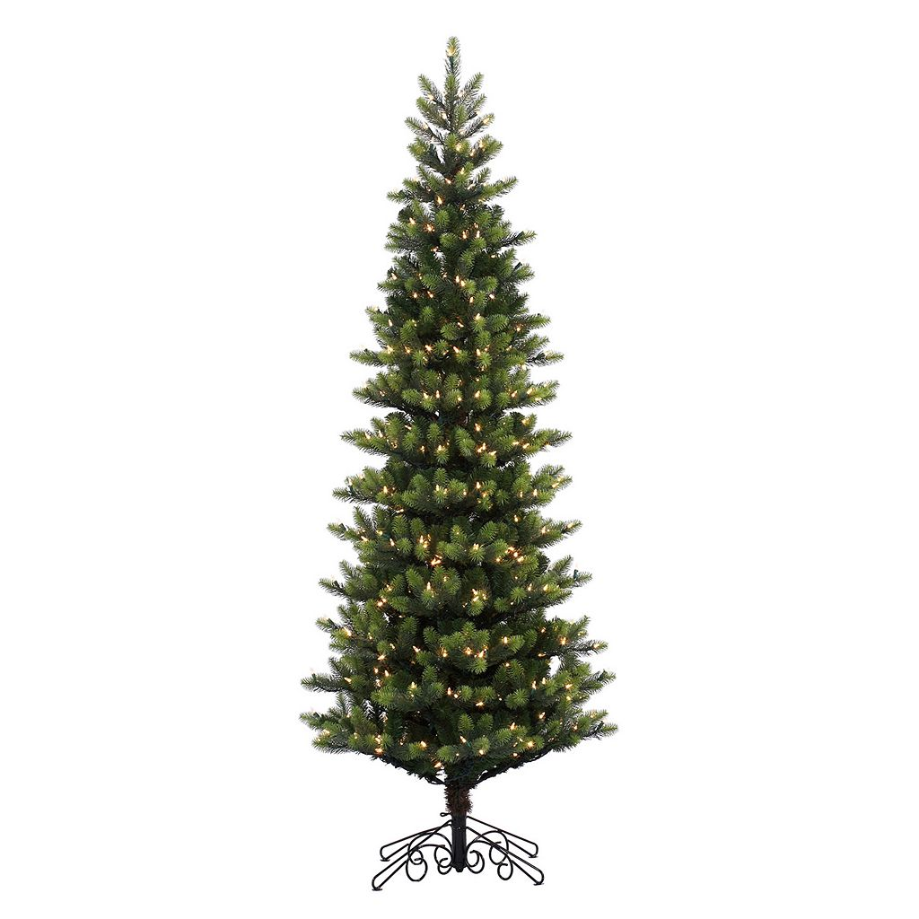 Vickerman 7.5-ft. Noble Spruce Pre-Lit Instant Shape Artificial Christmas Tree