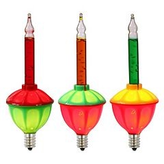 Vickerman 7-Light Multi-Colored Bubble Christmas Light Set