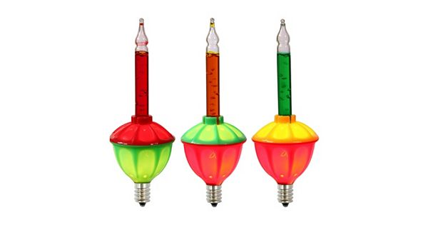Vickerman 7 Light Multi Colored Bubble Christmas Light Set