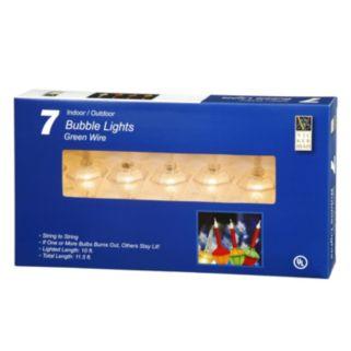 Vickerman 7-Light Set Clear Glitter Bubble Christmas Lights
