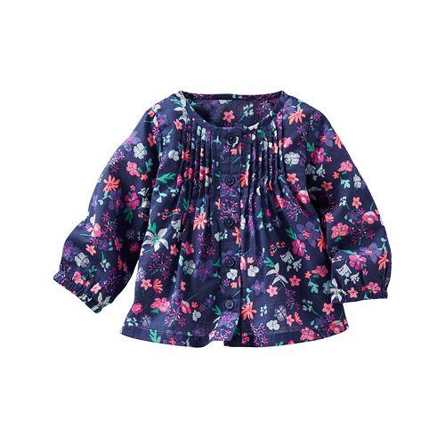 Baby Girl OshKosh B'gosh® Print Pintuck Shirt