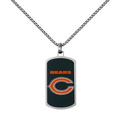 Men's Stainless Steel Chicago Bears Dog Tag Necklace