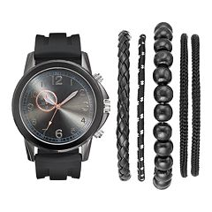 Men's Watch & Bracelet Set