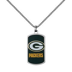 Men's Stainless Steel Green Bay Packers Dog Tag Necklace