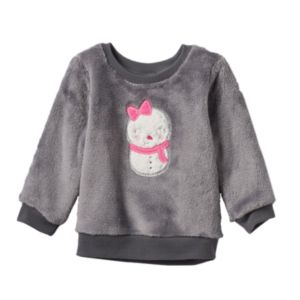 Baby Girl Jumping Beans® Embroidered Applique Pullover