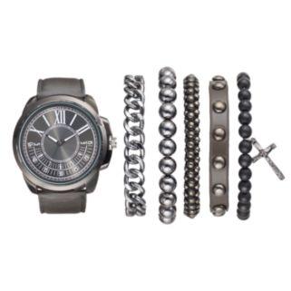 Men's Watch & Bracelet Set