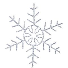 Vickerman 24-in. Pure White LED Forked Snowflake Wall Decor
