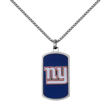 Men's Stainless Steel New York Giants Dog Tag Necklace