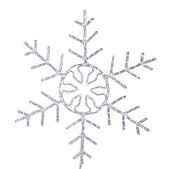 Vickerman 36-in. Pure White LED Forked Snowflake Wall Decor