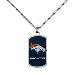 Men's Stainless Steel Denver Broncos Dog Tag Necklace