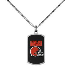 Men's Stainless Steel Cleveland Browns Dog Tag Necklace