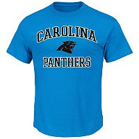 Big & Tall Majestic Carolina Panthers Heart & Soul Tee