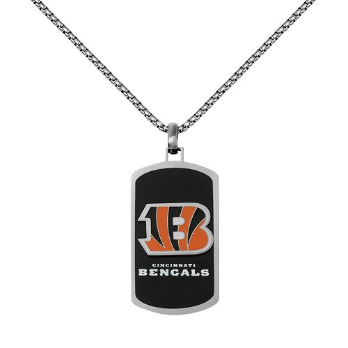 Men's Stainless Steel Cincinnati Bengals Dog Tag Necklace
