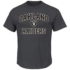 Big & Tall Majestic Oakland Raiders Heart & Soul Tee